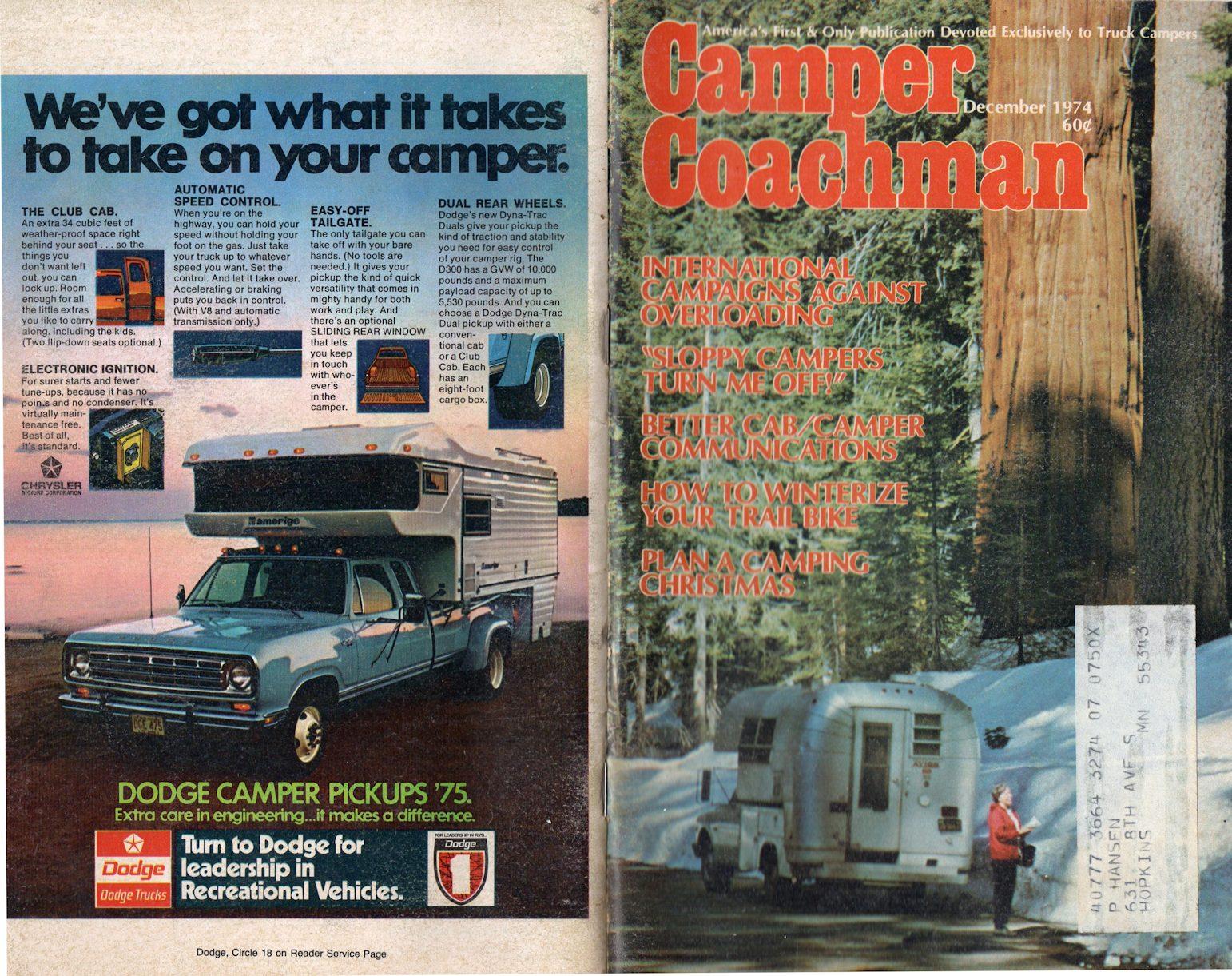1975 Sunrader mini-truck camper, etc  - General Discussion