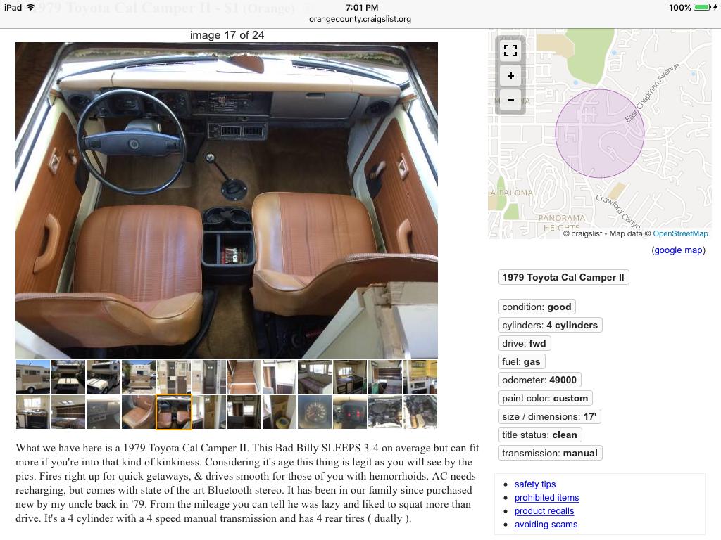 1979 Cal Camper - General Discussion - Toyota Motorhome
