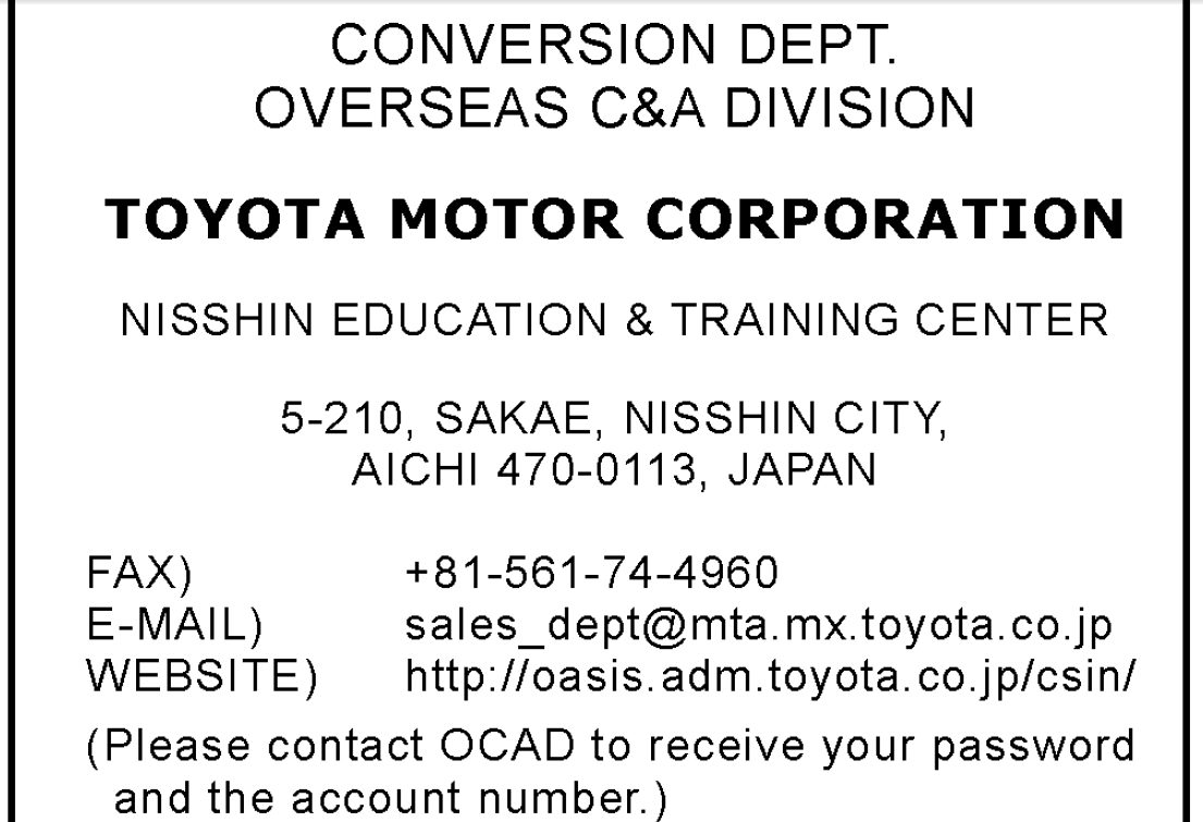 How many manufacturers used the Toyota  General Discussion