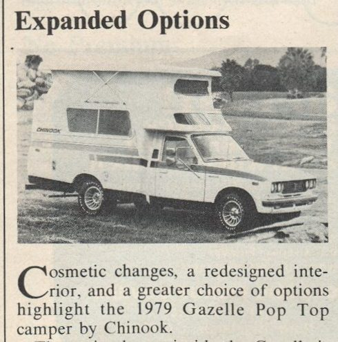 Rare non-pop up 79 Chinook - General Discussion - Toyota Motorhome