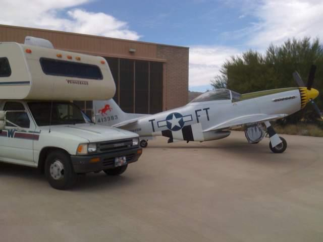 """Rita"" - '92 Warrior with P-51 Mustang - Tucson, Arizona"
