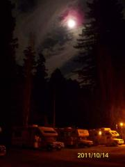 Under the moon!