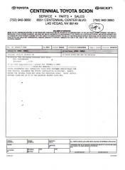 Toyota HG Repair Bill 4