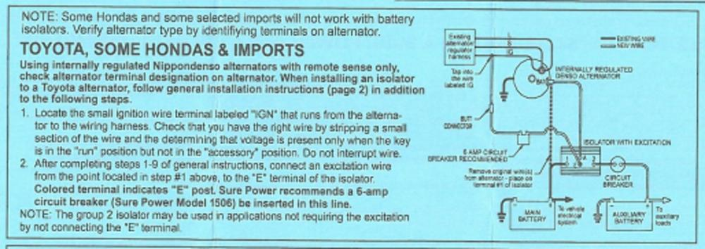 Does Alternator Charge Coach Battery While Driving  - Electrical