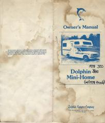 1979 Toyota Dolphin Owner's Manual Cover Front and Back