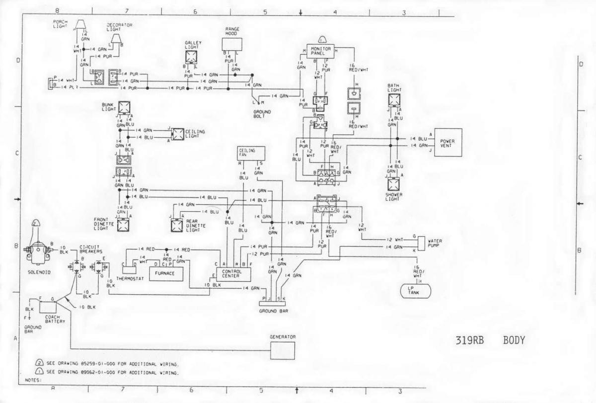 Winnebago Wiring Schematics Wiring Diagram Yer